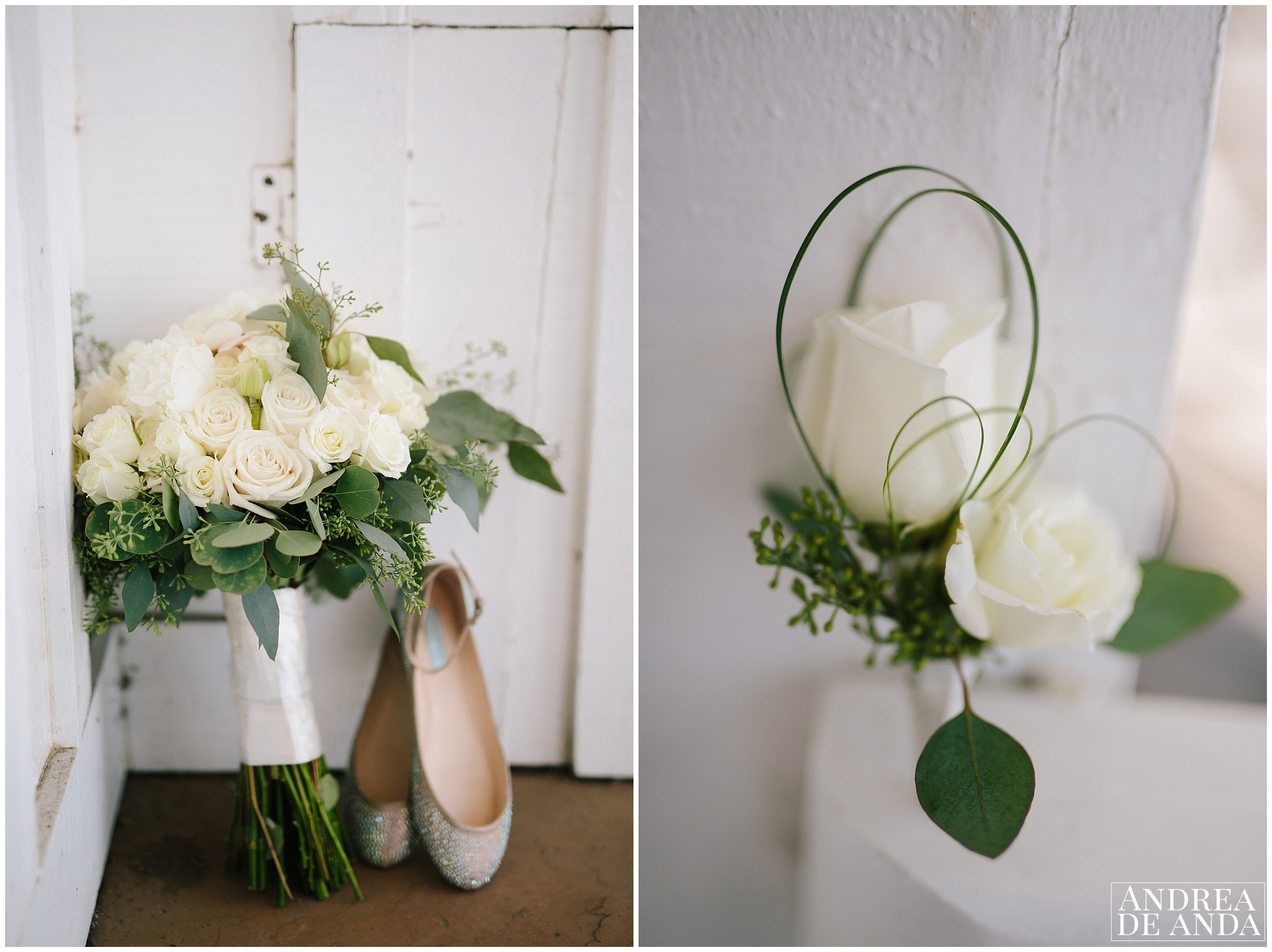 wedding details, Bridal Bouquet and wedding shoes, Madonna Inn wedding. San Luis Obispo Wedding Photographer