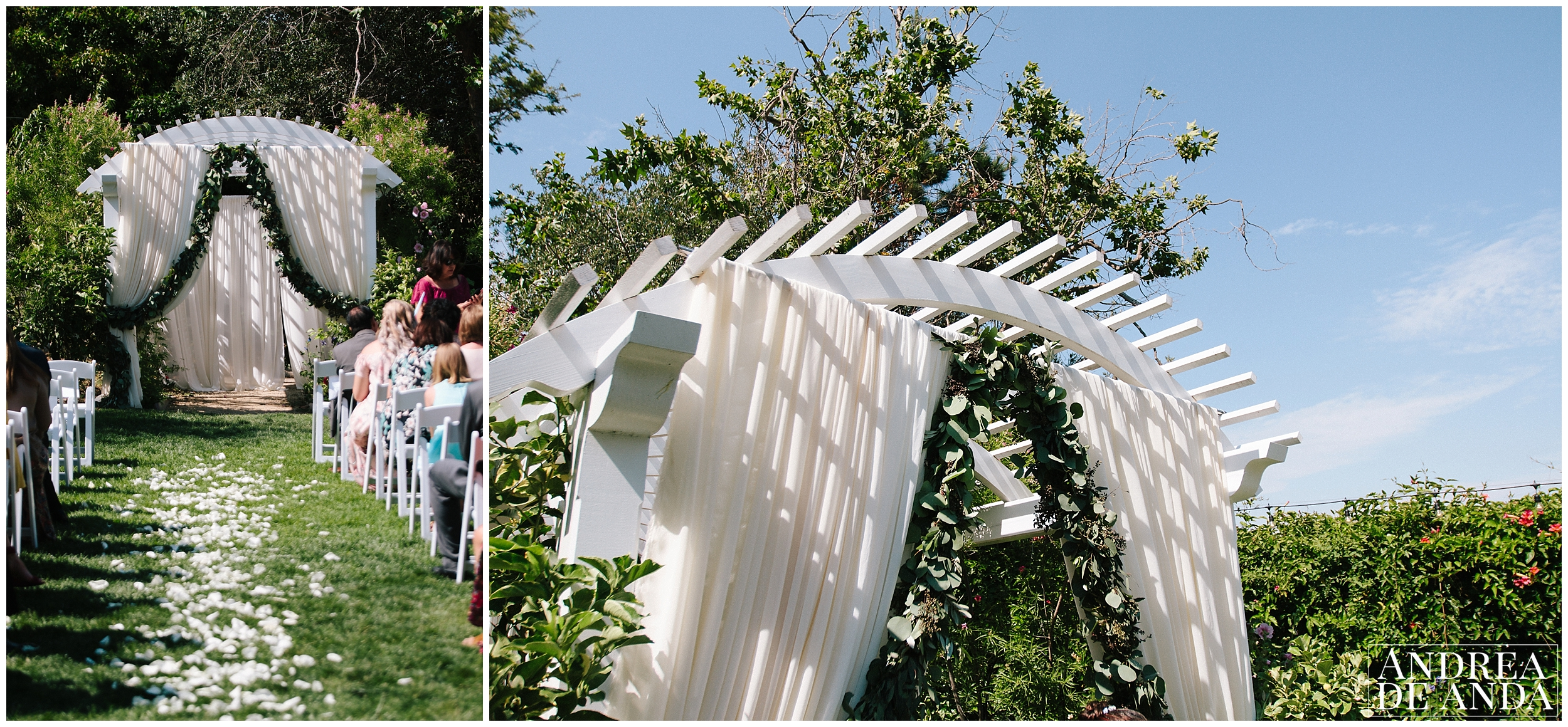 Secret Garden wedding ceremony Madonna Inn wedding. San Luis Obispo Wedding Photographer
