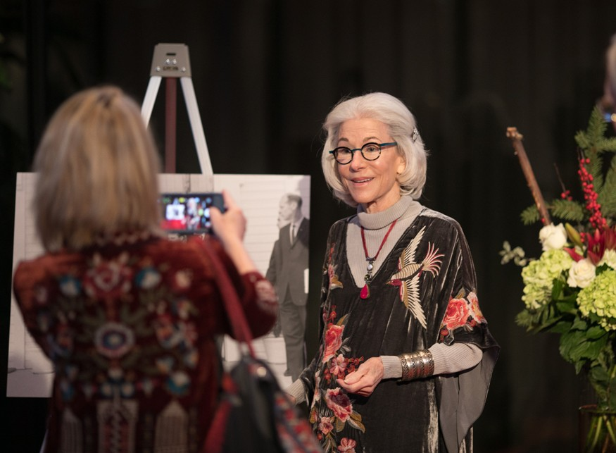 photo: Eleanor Crook posing for a photo during an award ceremony to accept the President's Volunteer Service Award for Lifetime Achievement photo credit: Brian Birzer for Bread for the World.