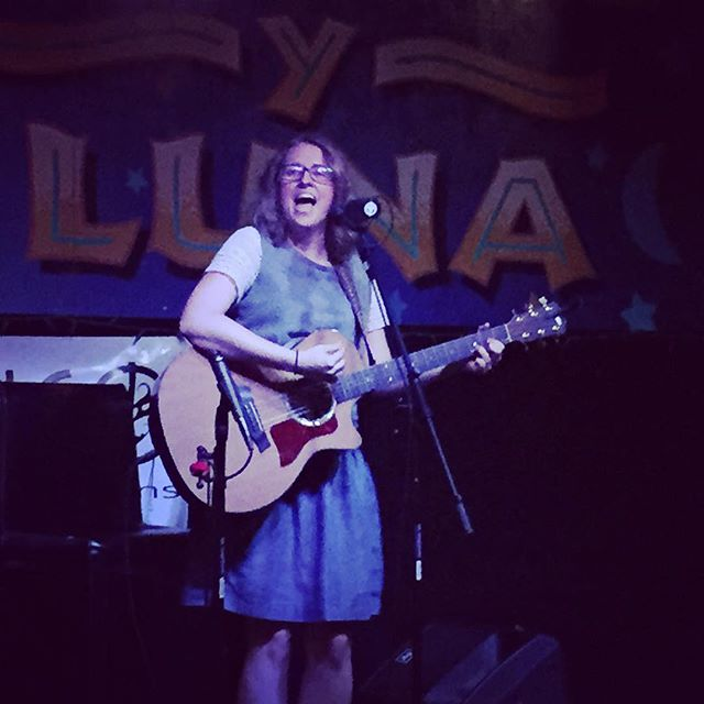 Emily Morris on stage just moments ago for #InvengoProductions Luna Open Mic at El Sol y La Luna on 6th St! Great stuff! #AustinMusic #Austin #ATX #ATXmusic #LocalAustinMusic #LocalATXMusic #MyCityATX