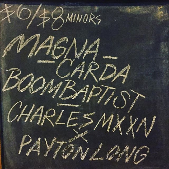 Magna Carda on tonight at Mohawk! #MyCityATX #austinmusic #austin #atx #atxmusic #MagnaCarda