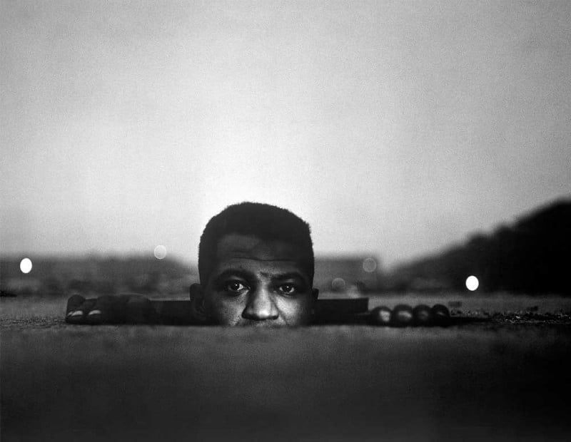 Gordon Parks, American (b. United States, 1912-2006).  Emerging Man , 1952. Gelatin silver print, Image: 14 7/8 x 19 1/8 inches. Gift of Hallmark Cards, Inc., 2005.27.308.