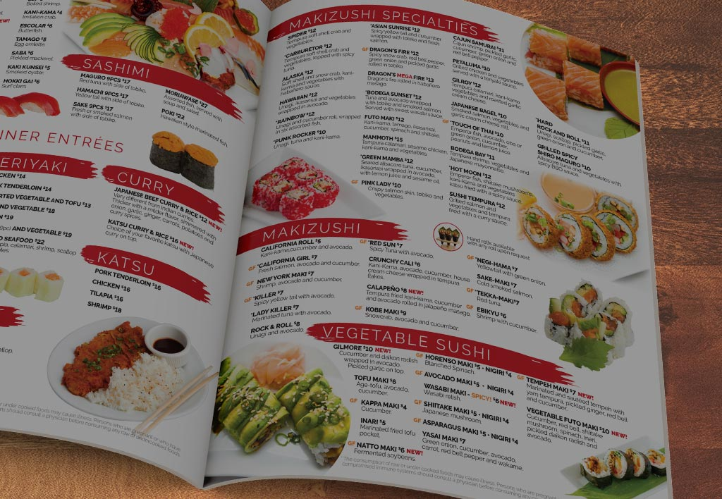 View our Menu - Delicious Japanese cuisine for everyone!