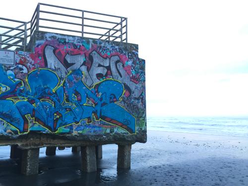 Ocean Beach  5:16 p.m. The pier off Vicente St.