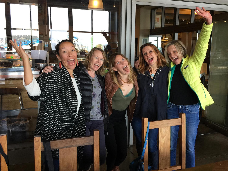 Picture Book People: Katrina Goldsaito, Keely Parrack, Cindy Derby, Meg Fleming Lentz, me.