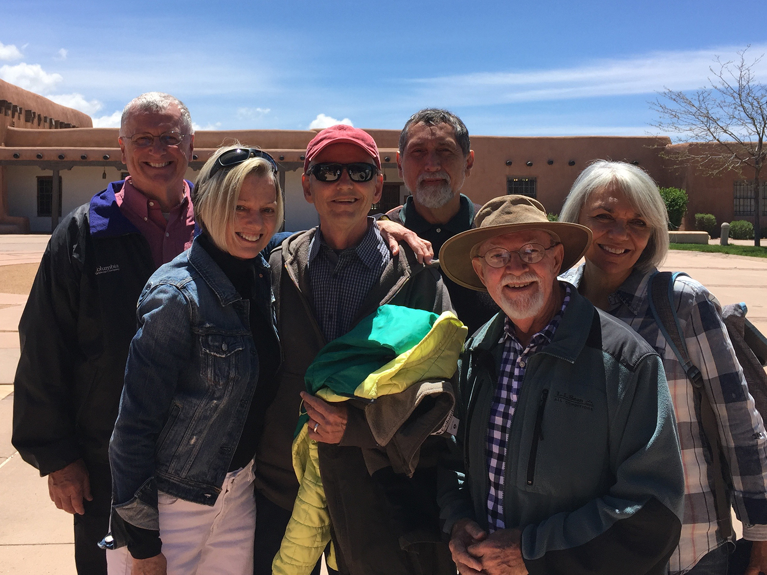 We met in Santa Fe. John & Tom A. in the back, from CO; Tom & I, from CA; and Larry & Barbara, from FL.