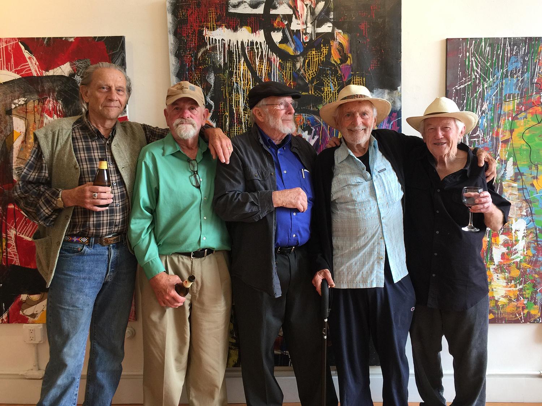 The Bagel Boys:  Brian Carter, Peter Strindberg  ,  Skip Henderson,  Jack Kamesar,  and   Harry Cohen