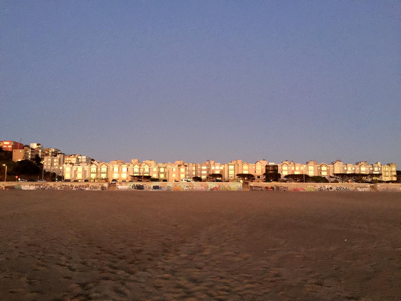 Looking east. Ocean Beach  7:11 pm