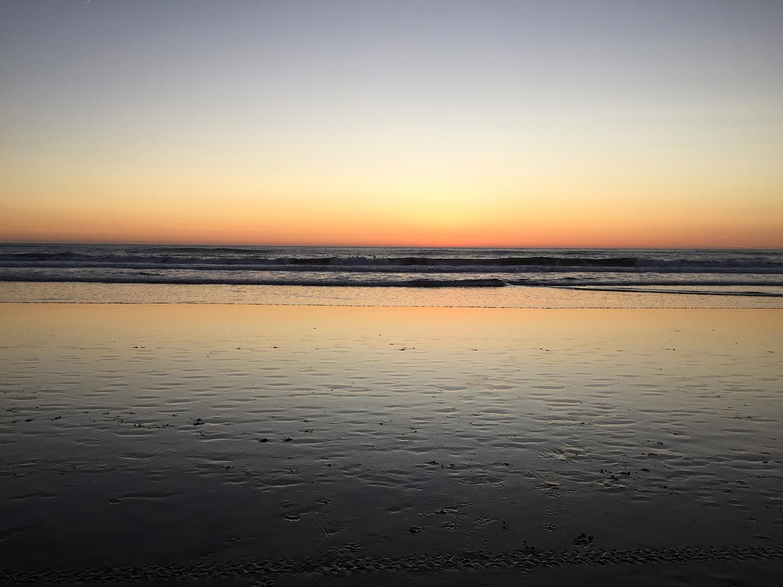 Looking west. Ocean Beach  7:11 pm