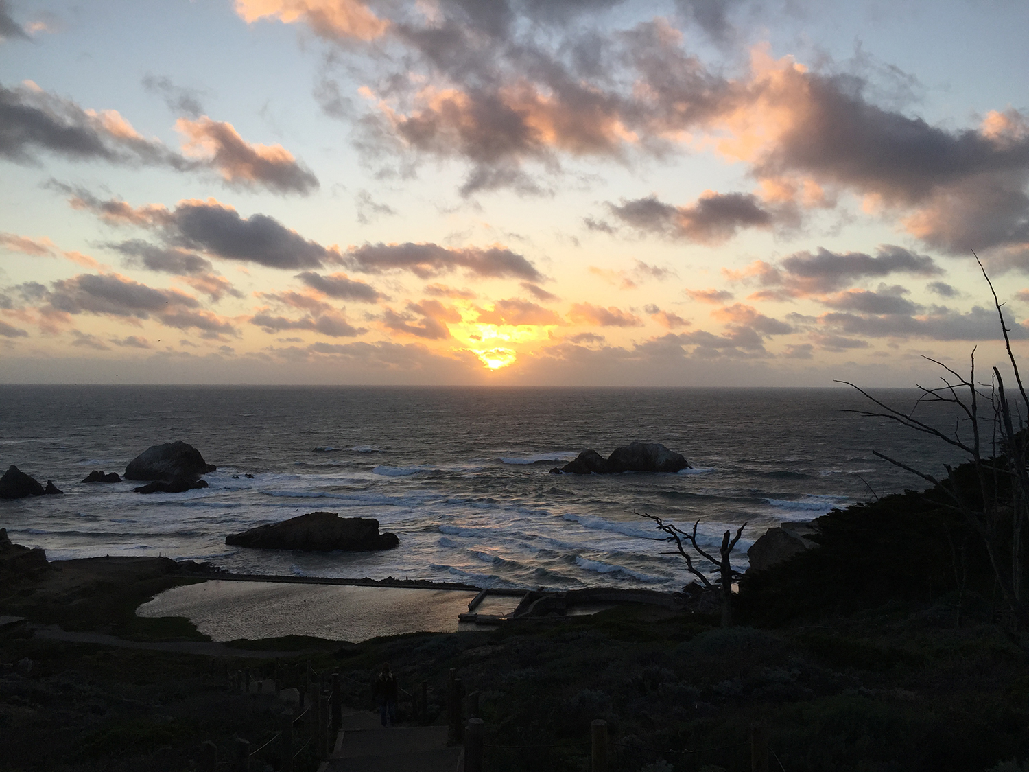 Above the Sutro Baths   5:50 pm