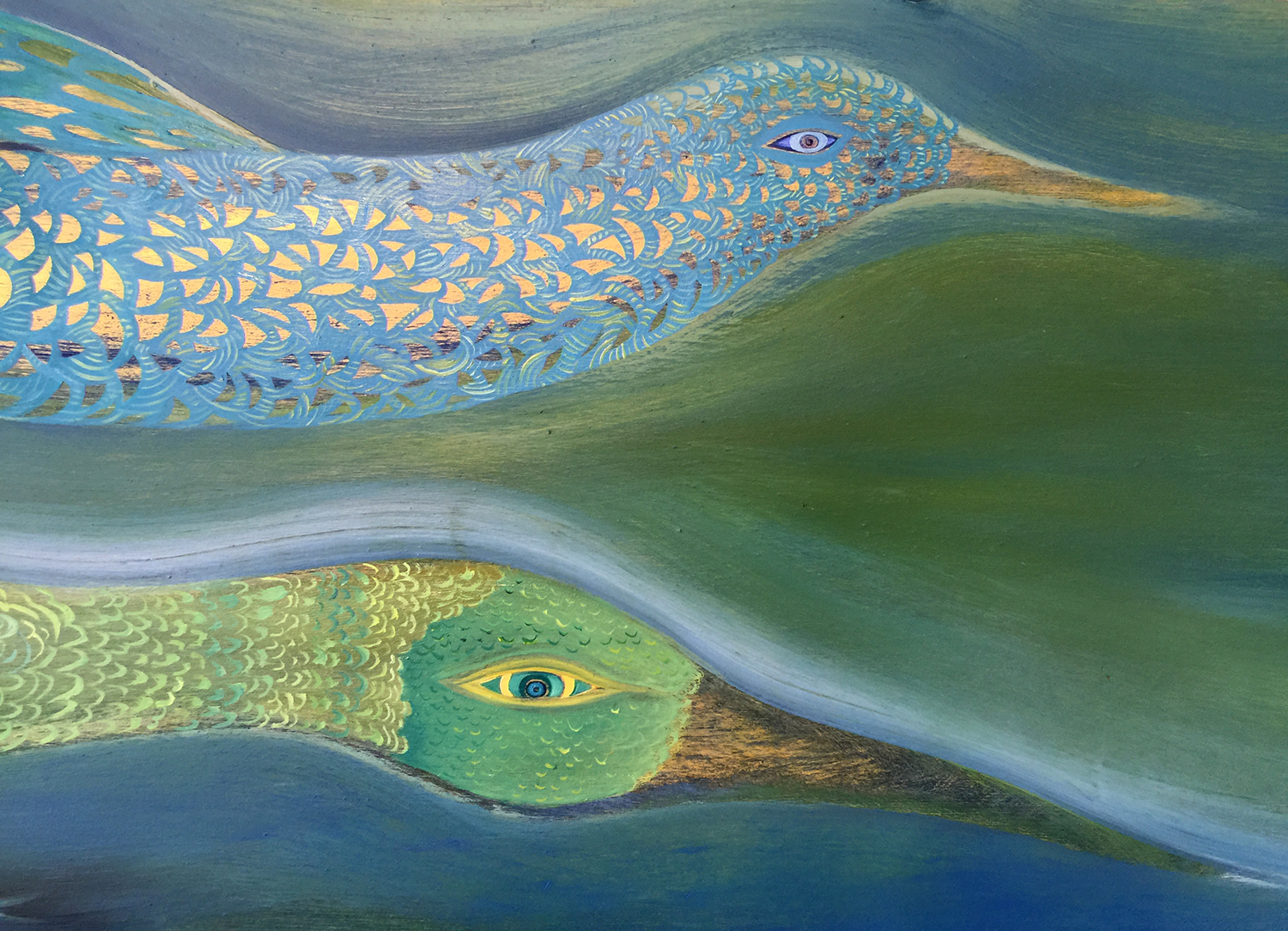 detail from the new painting by  Anne Herbst