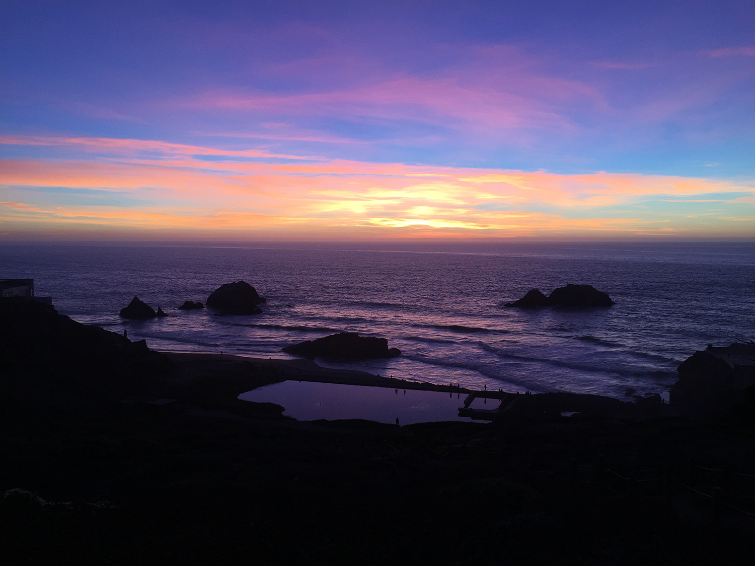 Above the Sutro Baths   6:28 pm