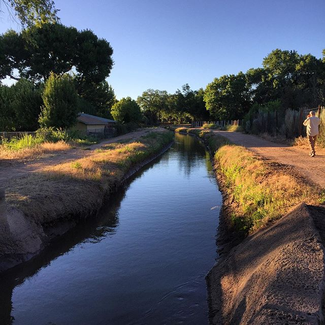 "Isn't it beautiful? This is the Duranes ""ditch"" that runs right behind our new house in Albuquerque. It's actually an irrigation system; it continues for miles, and connects with other irrigation ditches and bike trails throughout the city."