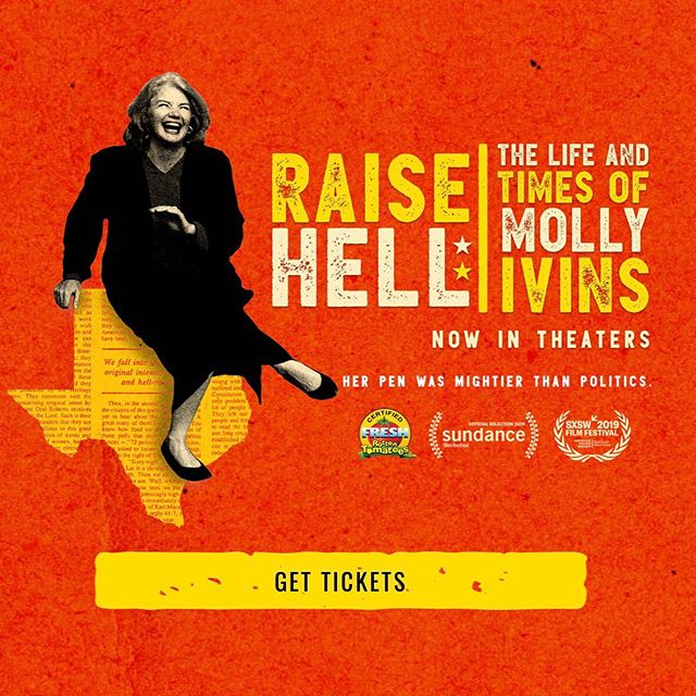 I loved this movie! I loved Molly Ivins.