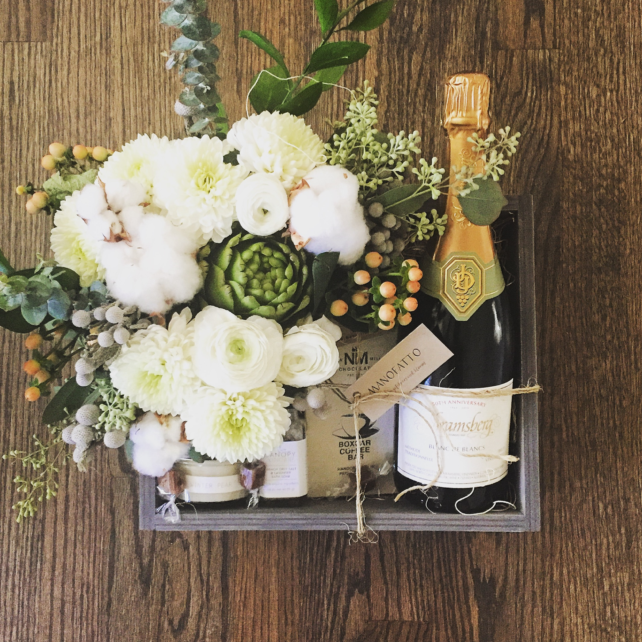 Blooms and Bubbly $185