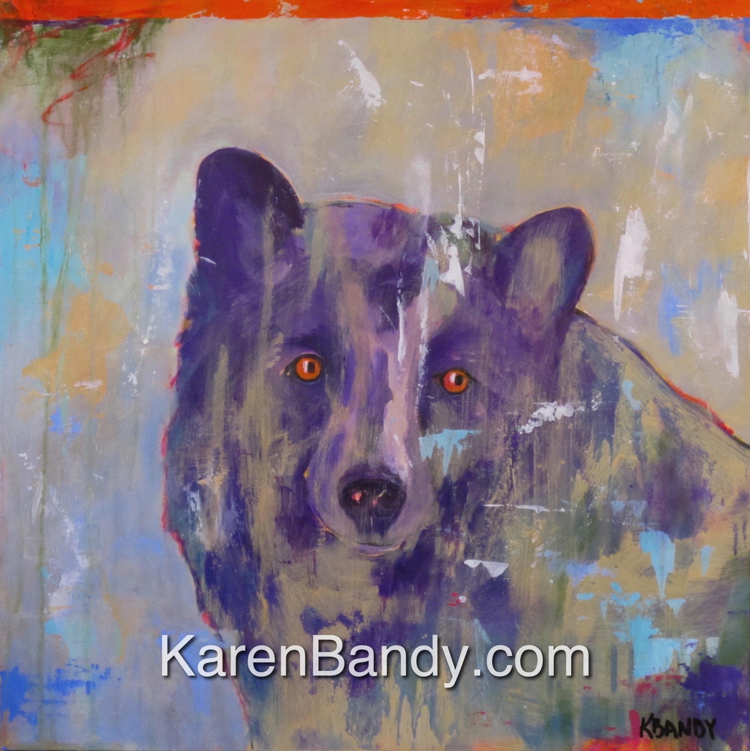 Final! 'Blond' Bear 16x16 Acrylic on Panel