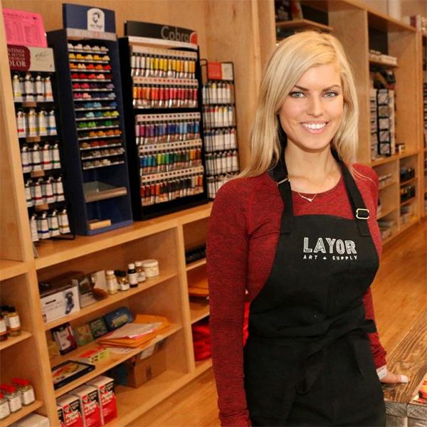 Layor Art Supply and art gallery in Bend, Oregon.