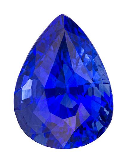 Gorgeous pear-shaped sapphire - can I pick one up for you in Tucson?