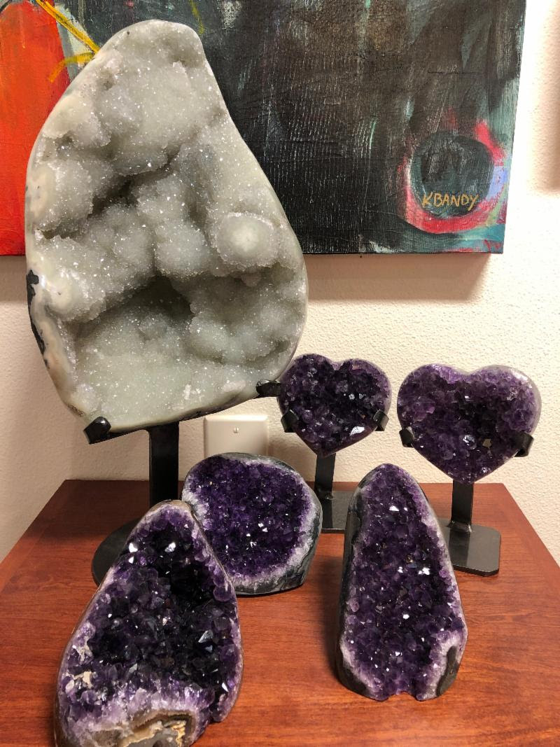 These museum-quality geodes are perfect for your home. Visit the studio to see them in person.