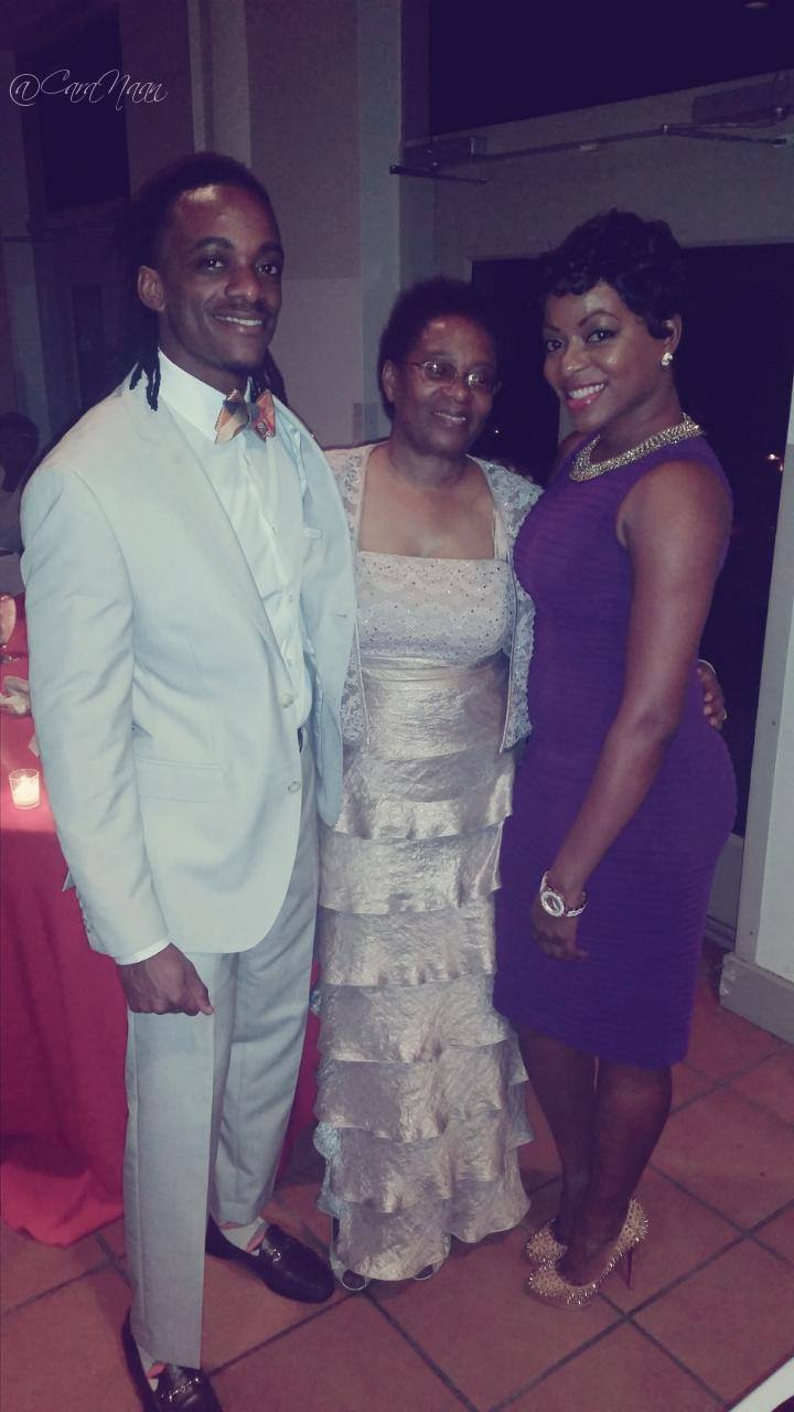 Danny with his mom and one of his sisters.