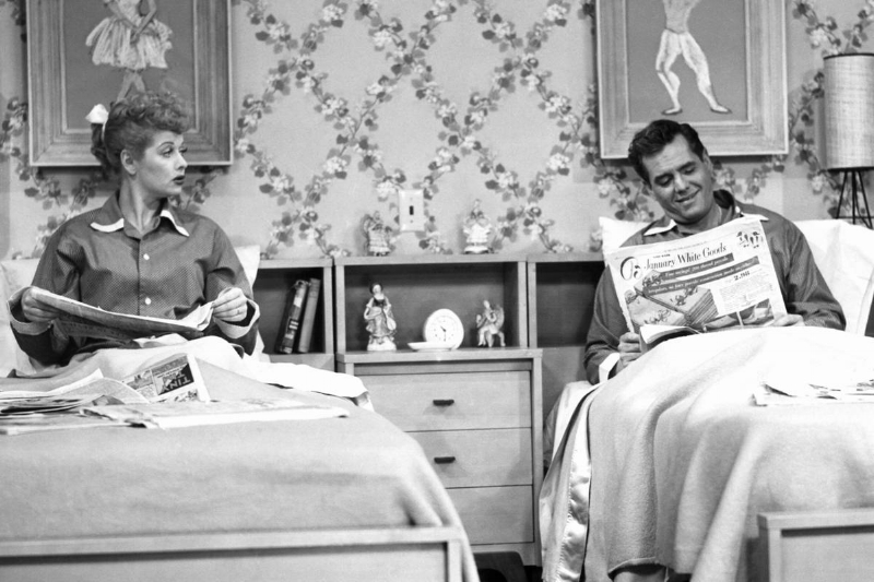 "In the 1950s show ""I Love Lucy"" Lucy and her husband slept in different beds."