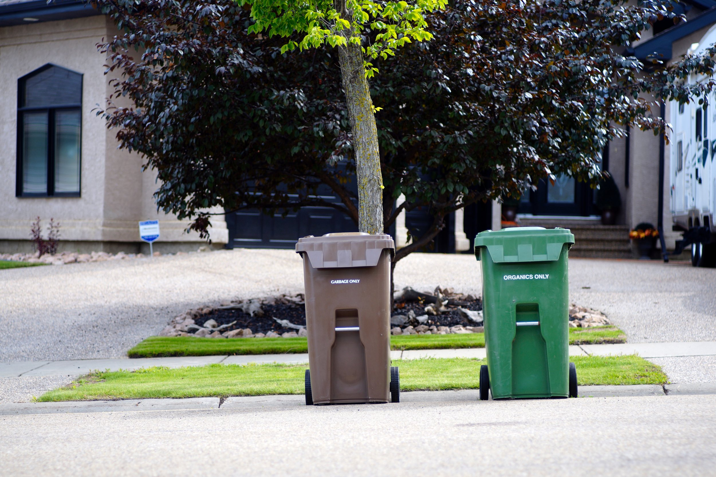 recycled bins