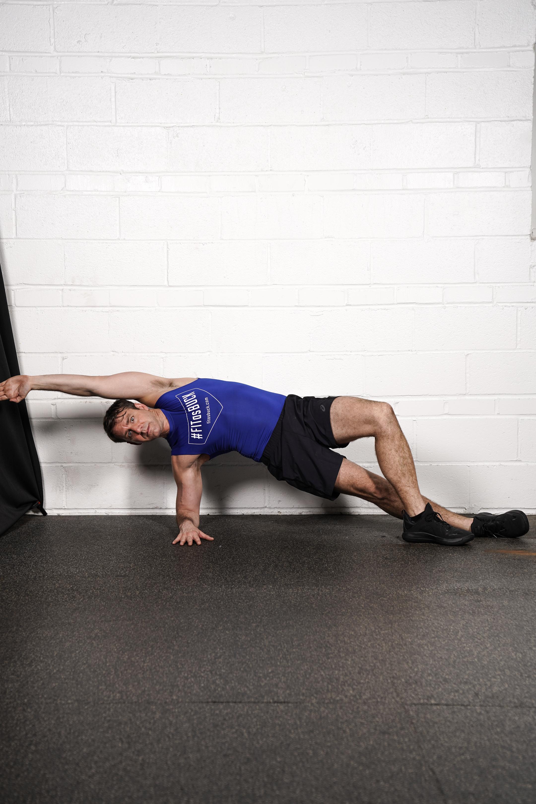 Figure 4 side Plank Hold - (left side)- DURATION: 30 seconds