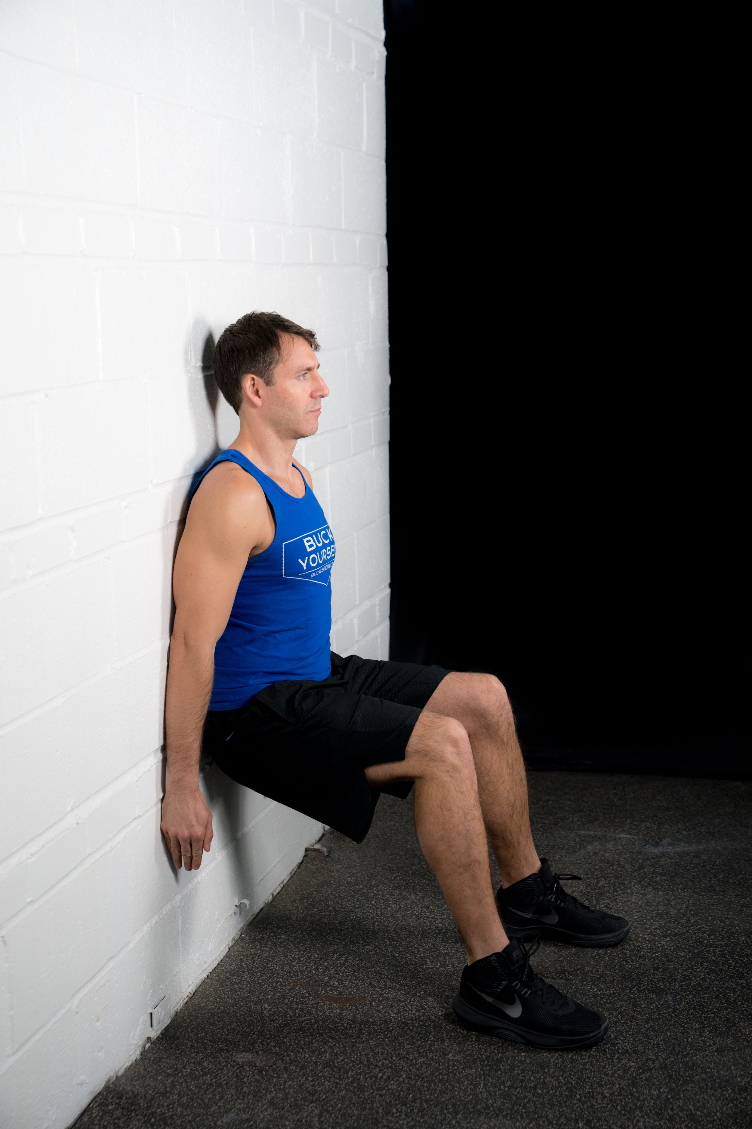 Wall Squat Hold - - DURATION: 30 seconds