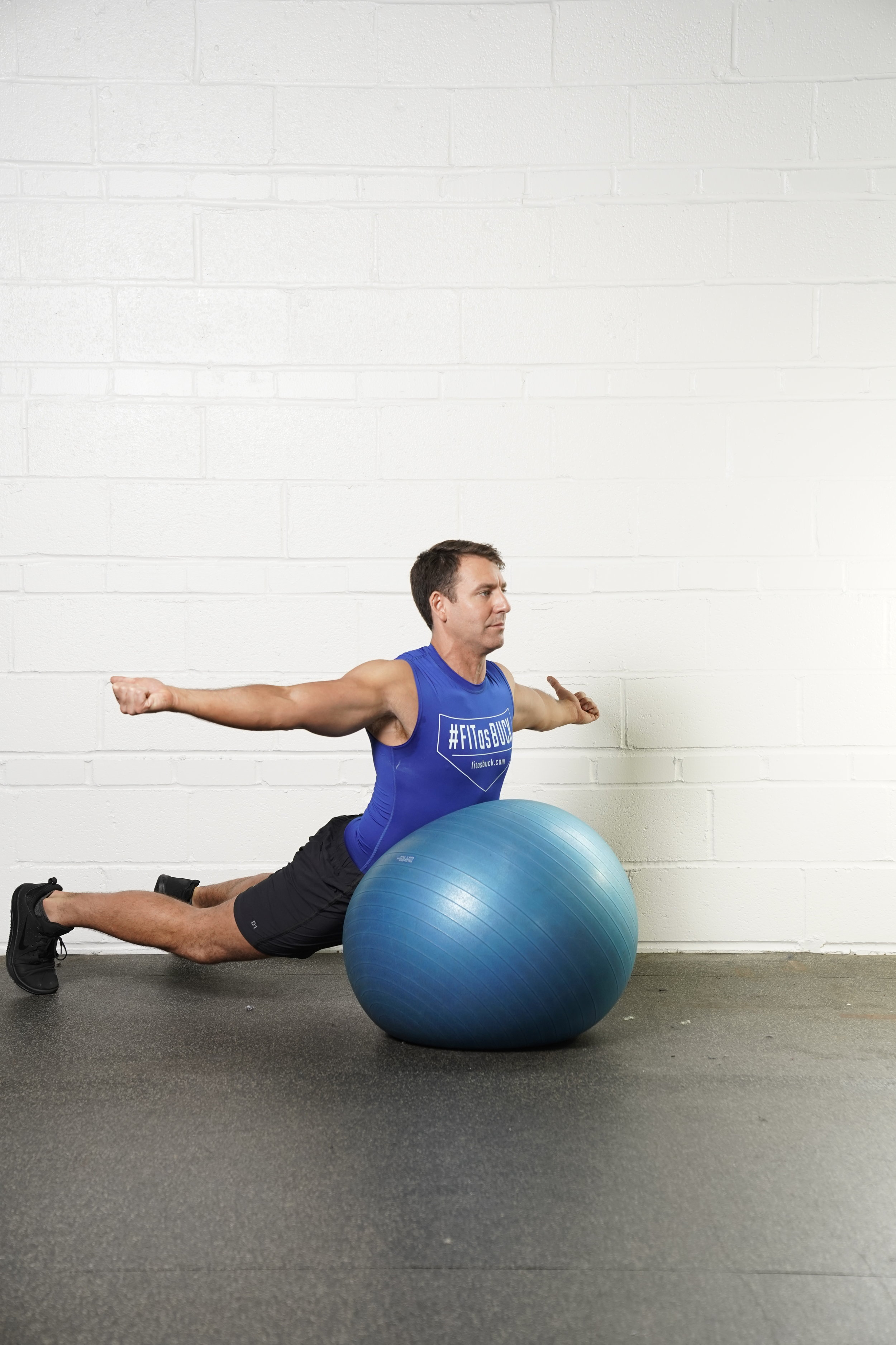 Stability Ball T Superman Hold - - DURATION: 30 seconds- SETS: 1