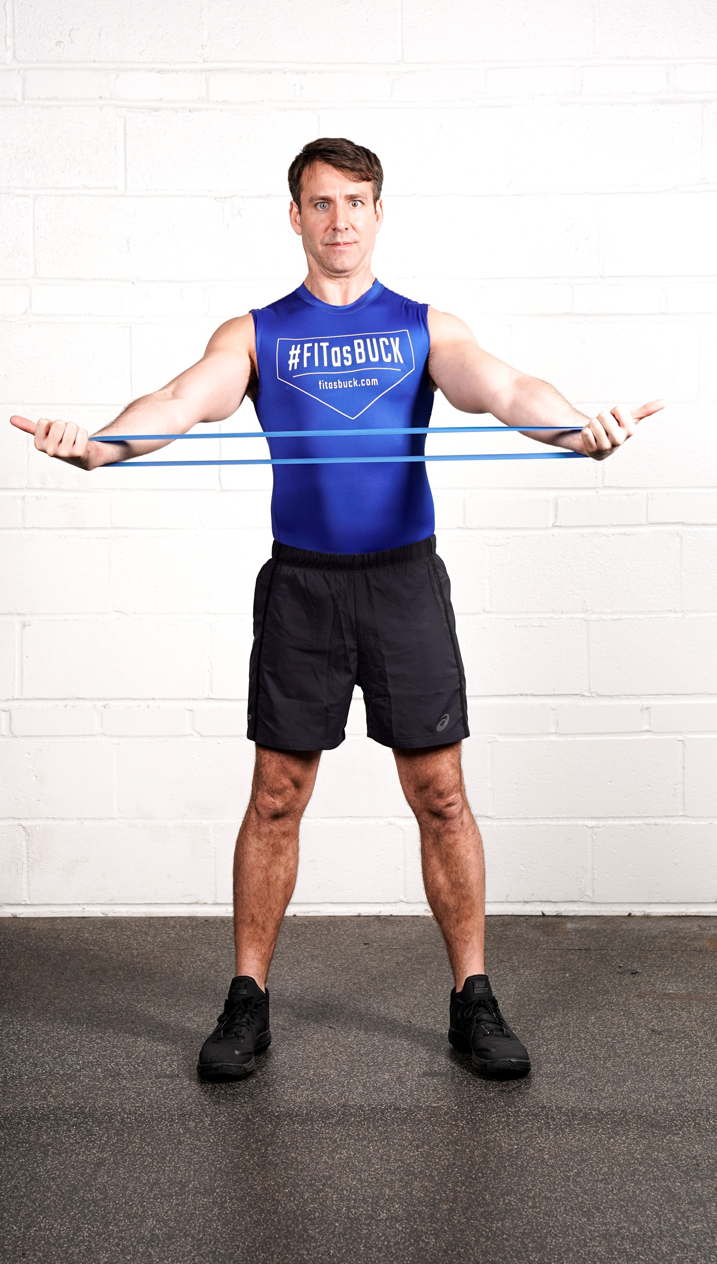 Underhand Resistance Band Pull Apart Hold - - DURATION: 30 seconds- SETS: 1