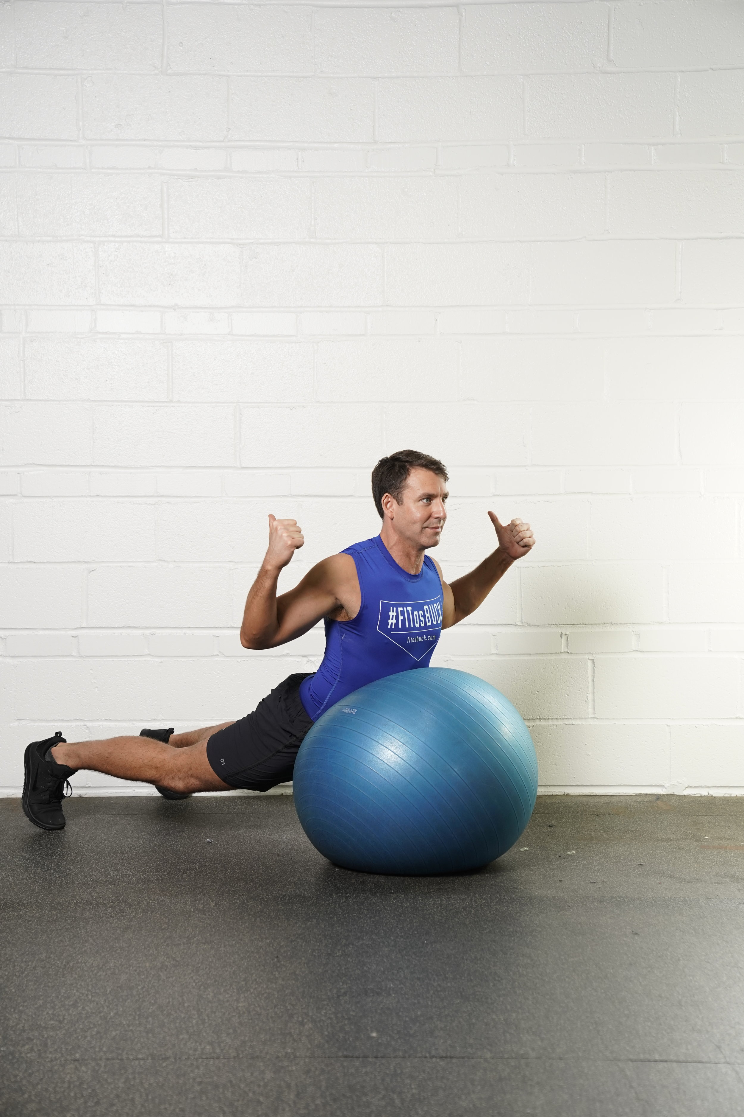 """Stability Ball """"W"""" Superman Hold - DURATION: 30 secondsSETS: 1"""