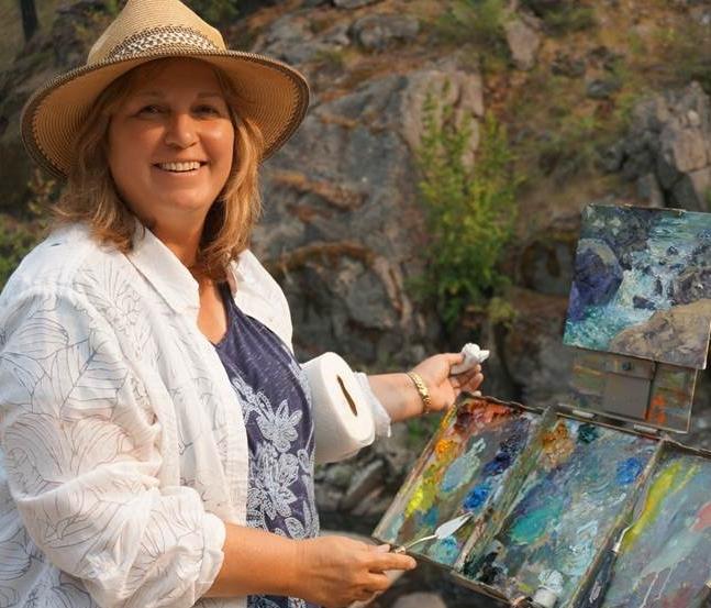 Karen Bakke - You meet the nicest people painting en plein air!