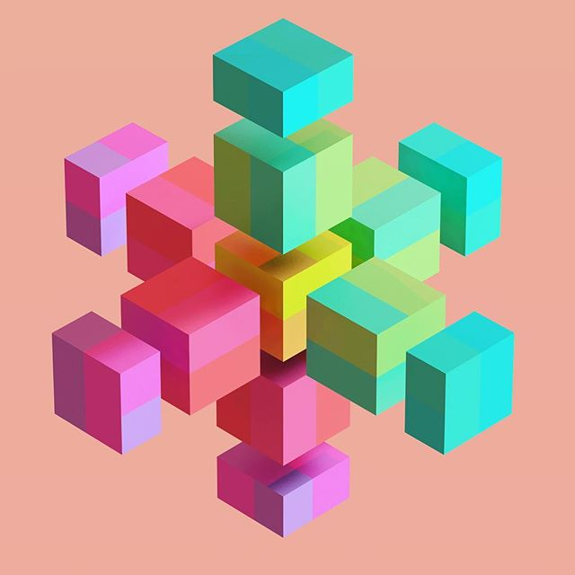 #cubes #color #hexagon #hexeosis #isometric #geometricart
