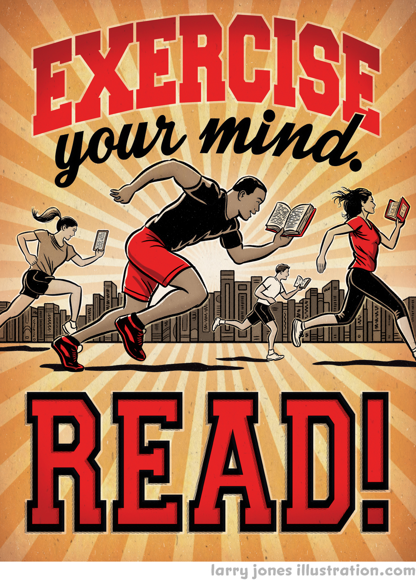 Exercise Your Mind- Read! poster