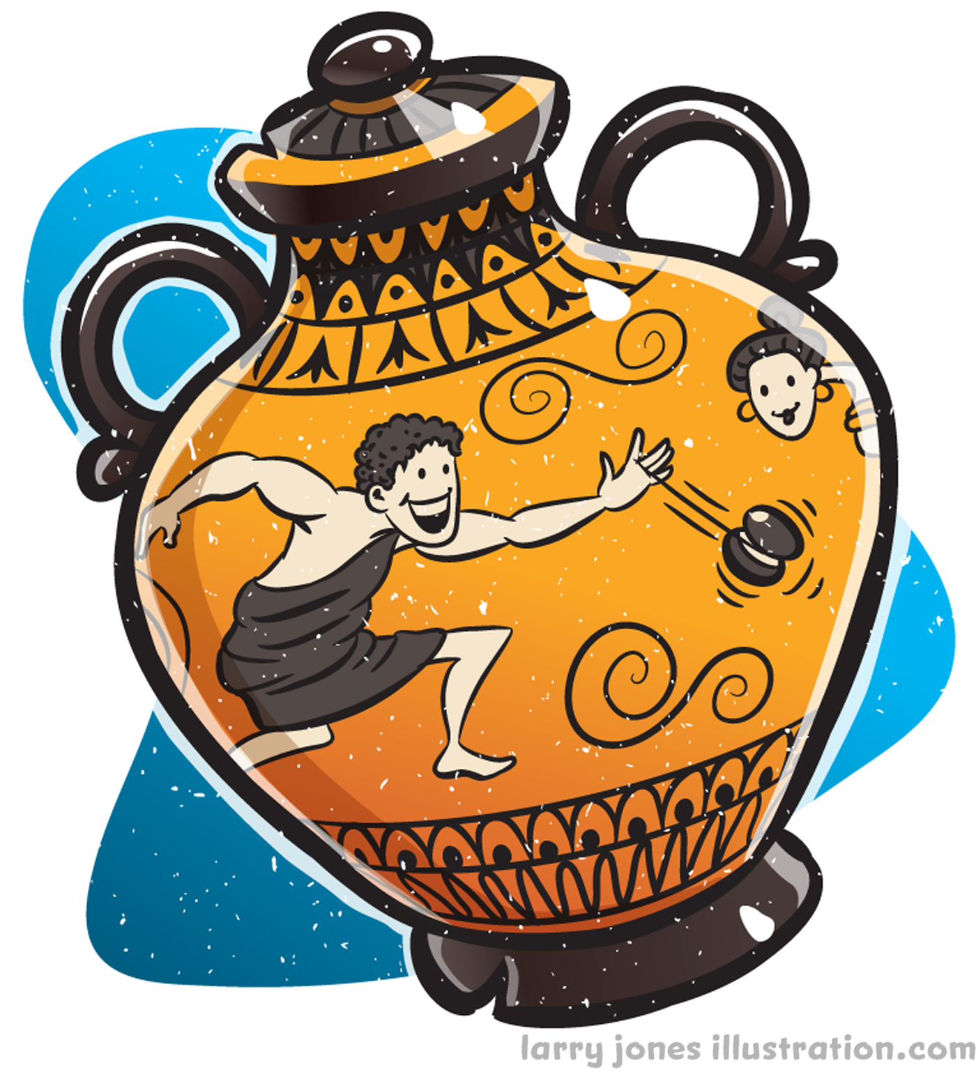 An ancient Greek vase was found with art depicting someone playing with a yo-yo.