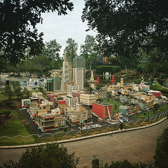 In the future, every city will be made out of plastic. Oh wait... #legolandiseverywhere