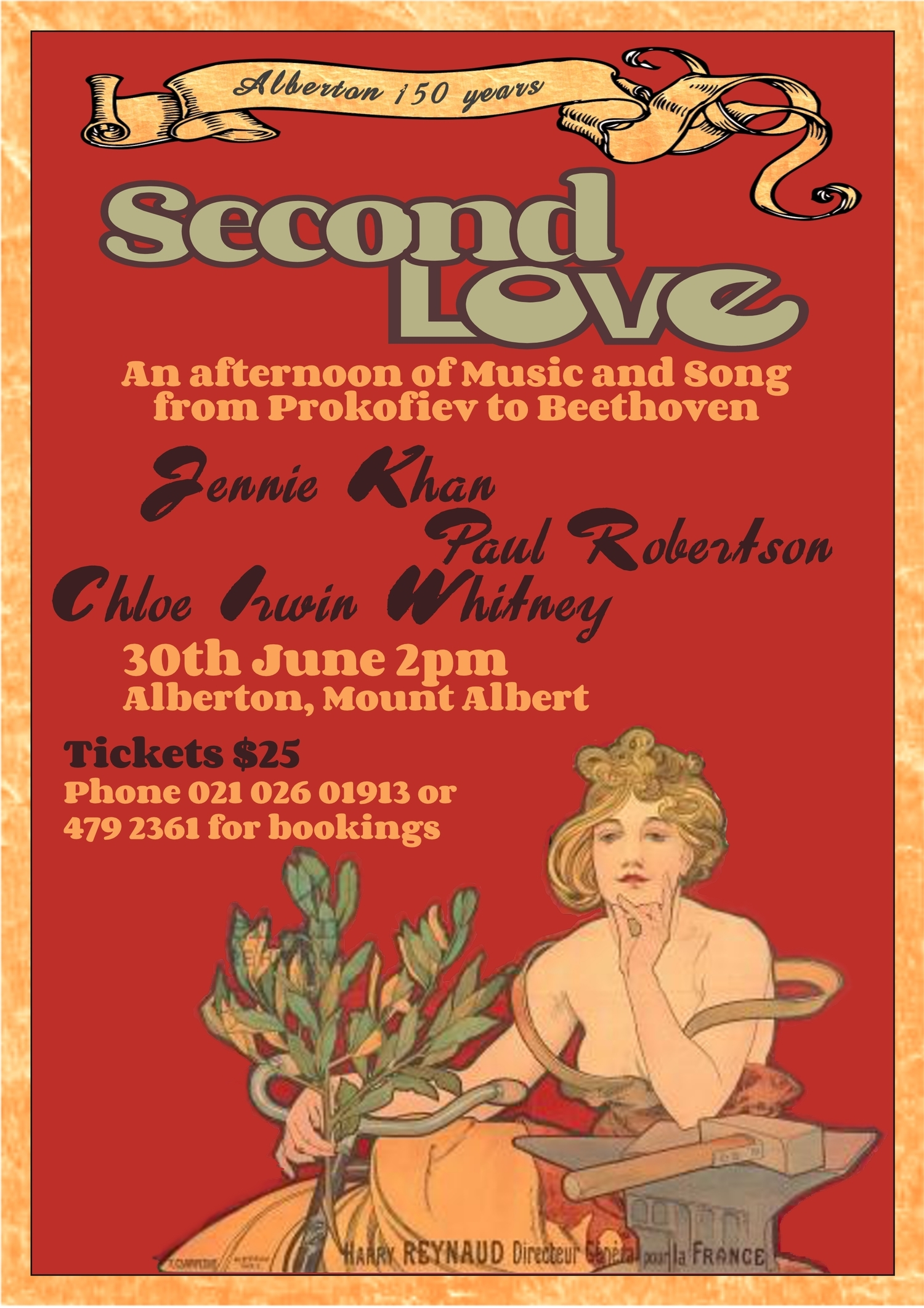 Second Love was Jennie's joint solo recital presenting her favourite works.