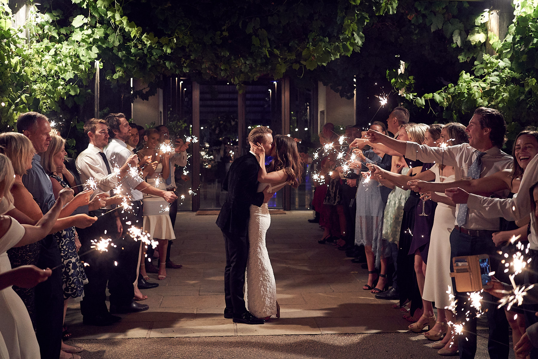Wedding farewell at Stones of the Yarra Valley