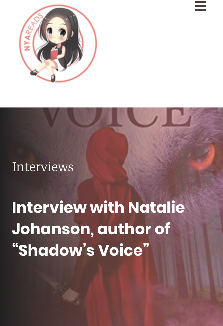 Check out my latest author interview - NYA Reads interviewed me about 'Shadow's Voice', how I came to start writing and more! Check out the full interview.