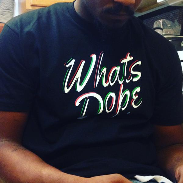 Malcolm aka Justice rocking one of our What's Dope tees.