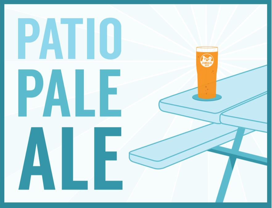- There's nothing quite like drinking a great beer outdoors. Whether the view from your patio is the Northwoods, the neighbor's fence, or the swing set in your backyard, you can't go wrong with our Patio Pale Ale. The rich malt and American hops pair perfectly with the sound of cicadas and warm summer breeze.Beer Style: Pale Ale Gravity: 12.8P ABV: 4.8%