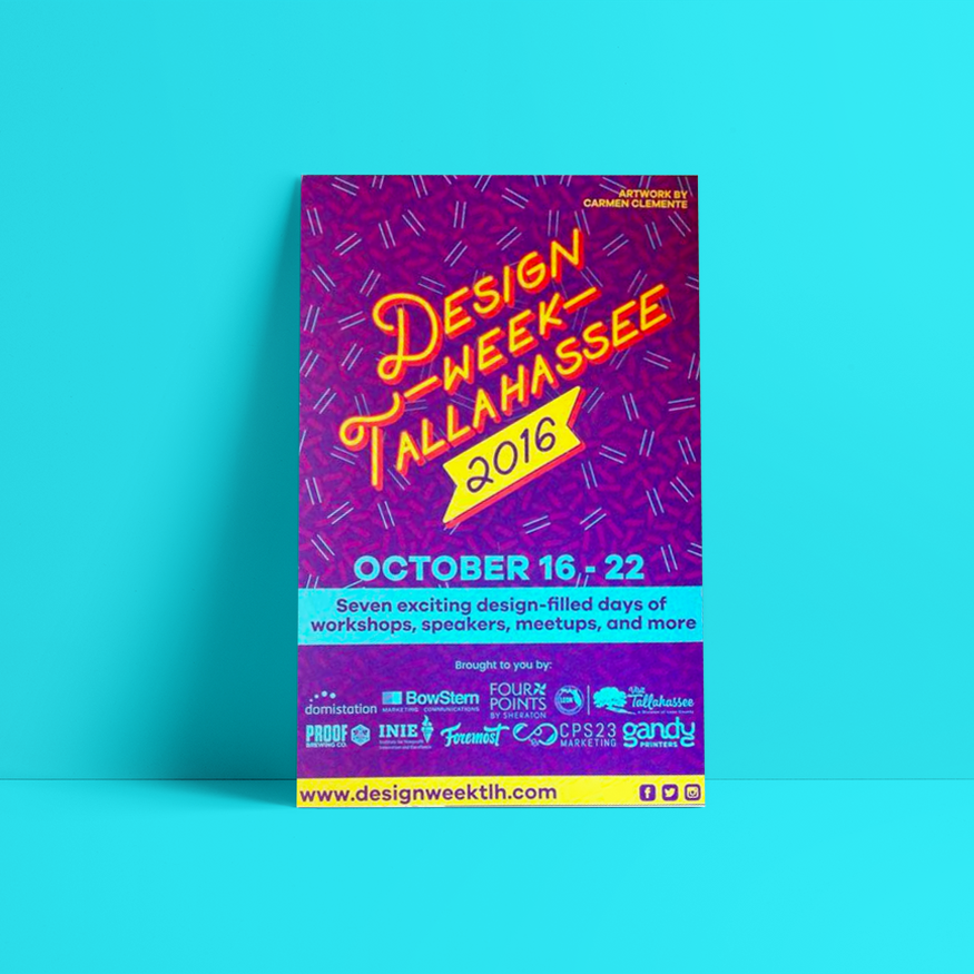 One of the 2016 Design Week Tallahassee posters.