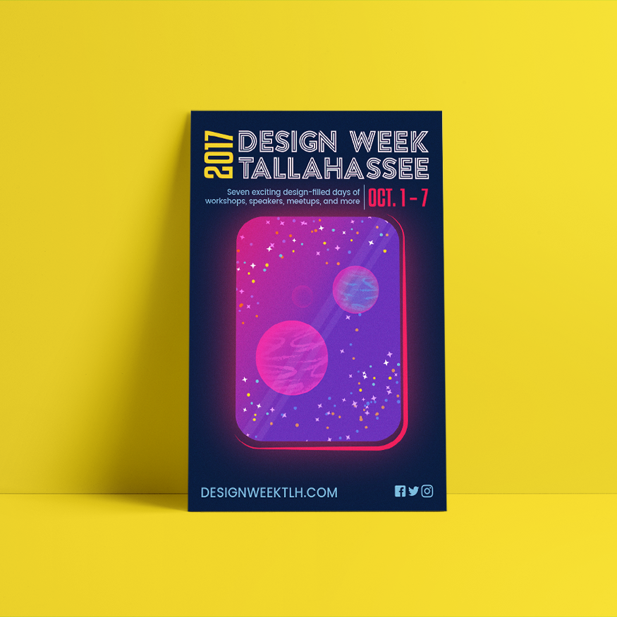 One of the 2017 Design Week Tallahassee posters.