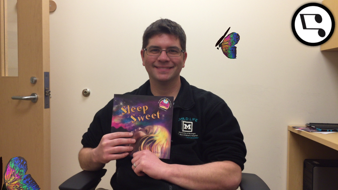JJ Bouchard surrounded by SpellBound's Beyond the Book experience. Those butterflies are everywhere!