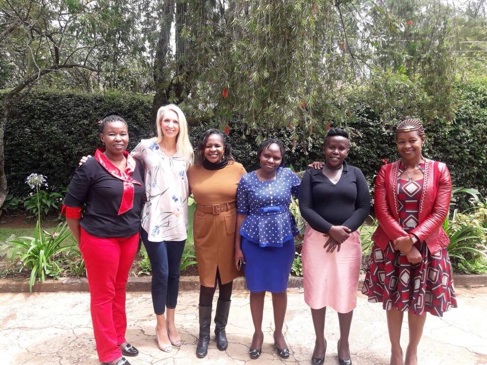 The child life team at Shoe4Africa Hospital. From left to right: Jayne Kamau, Morgan Livingstone, Martha Mwongela, Phillister Wambeyi, Catherine Cheruto, Liz Kabuthi. Photo provided by Morgan Livingstone.