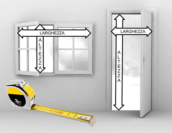 Measure Inside Width and Height of Opening