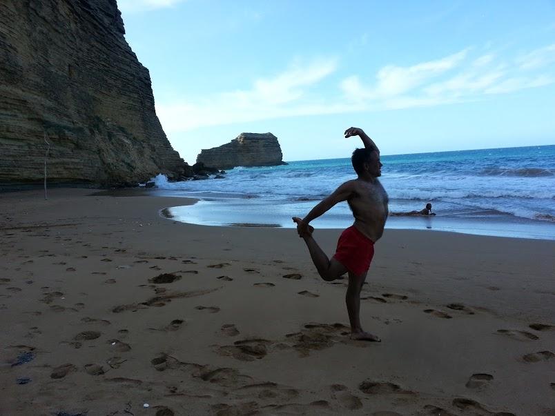 Vivekan  November 2015 during  Bodhisattva Yoga's Eco Adventure Yoga Retreat in the Dominican Republic.