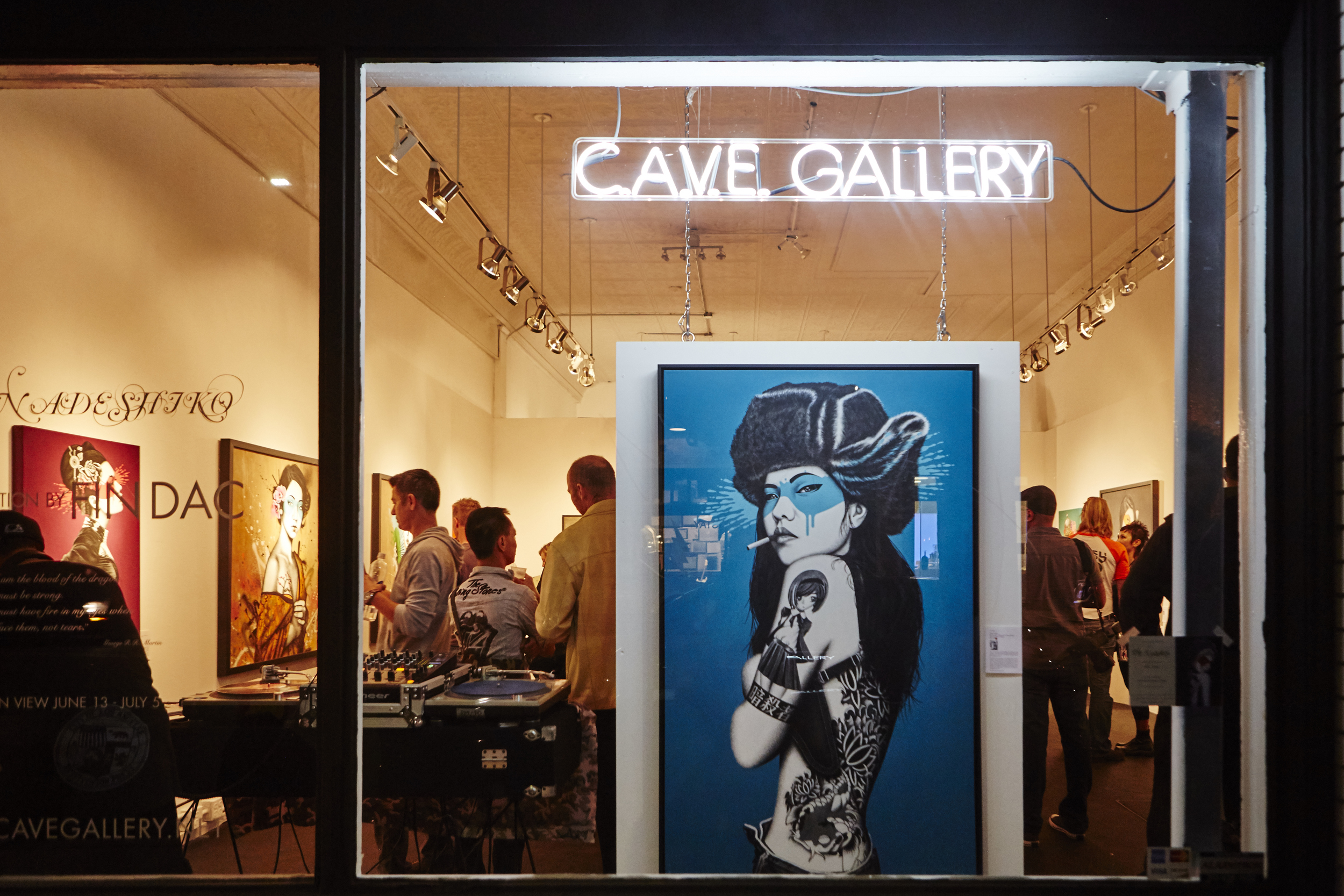"Fin Dac ""The Nadeshiko"" at CAVE Gallery 06/13/2015"
