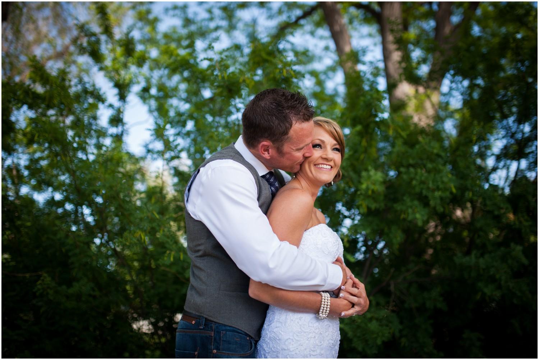 downtown windsor colorado bride and groom
