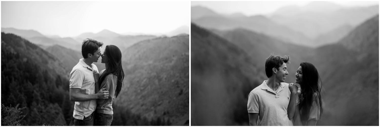 stunning black and white engagement photo